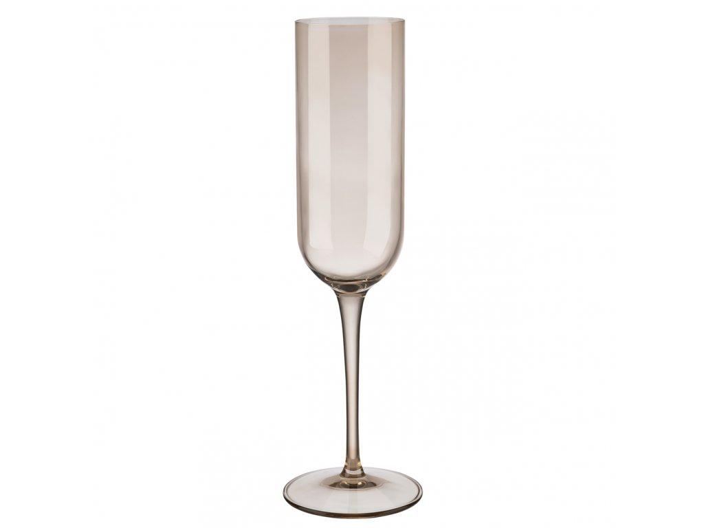 set 4 skleniček na šampaňské pískové FUUM BLOMUS