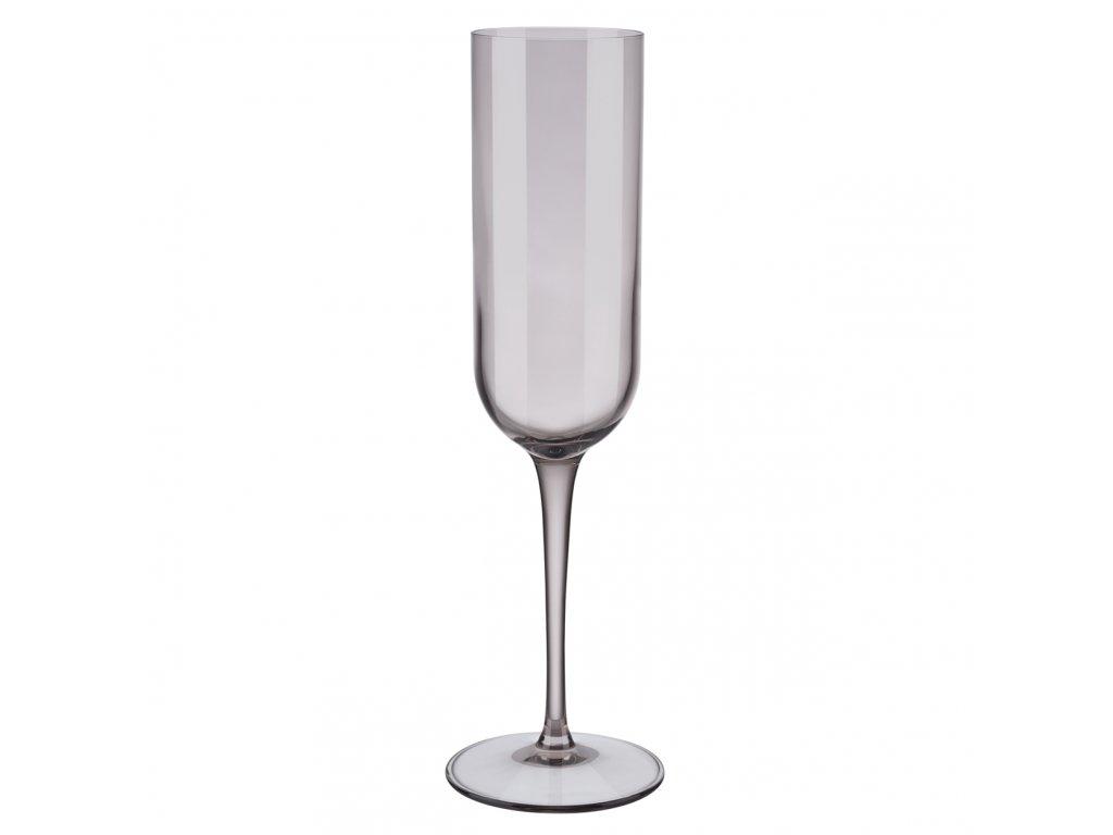 set 4 skleniček na šampaňské hnědá FUUM BLOMUS