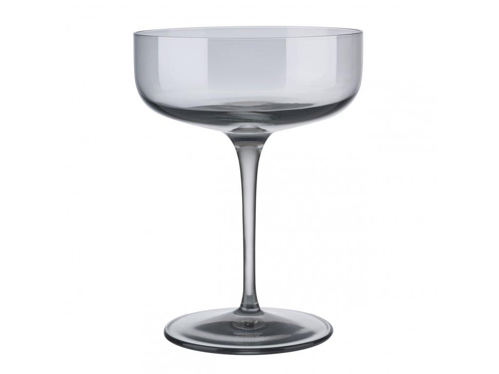 set 4 skleniček na šampaňské kouřové ploché FUUM BLOMUS