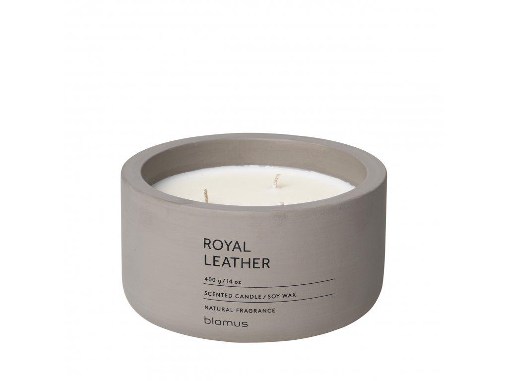 Vonná svíčka ze sojového vosku Royal Leather velká FRAGA BLOMUS