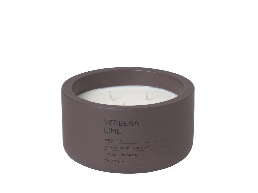 Vonná svíčka ze sojového vosku Verbena Lime velká FRAGA BLOMUS