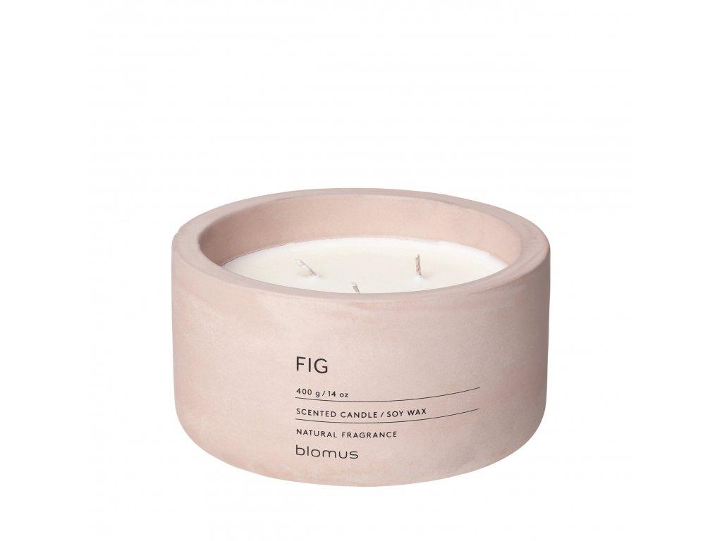 Vonná svíčka ze sojového vosku Fig rose velká FRAGA BLOMUS