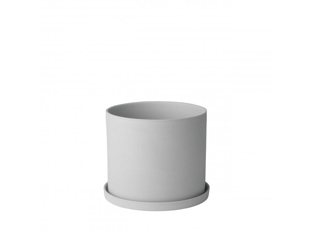 Květináč porcelánový šedobílý NONA BLOMUS