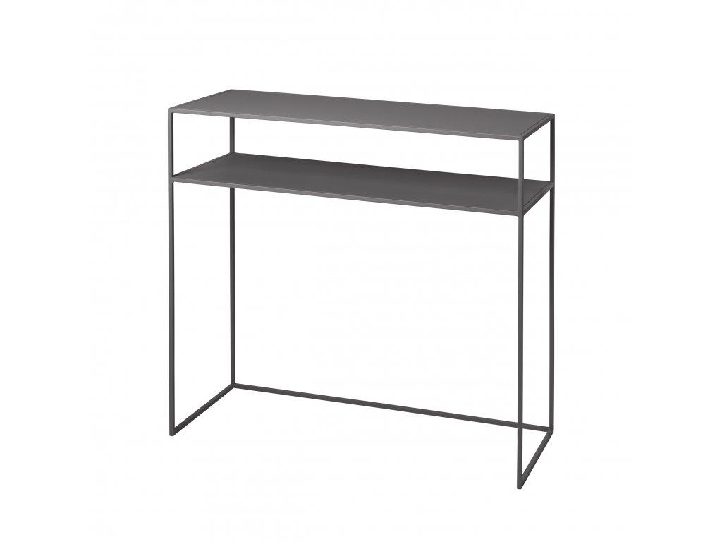 konzolový stolek šedivě ocelový FERA BLOMUS