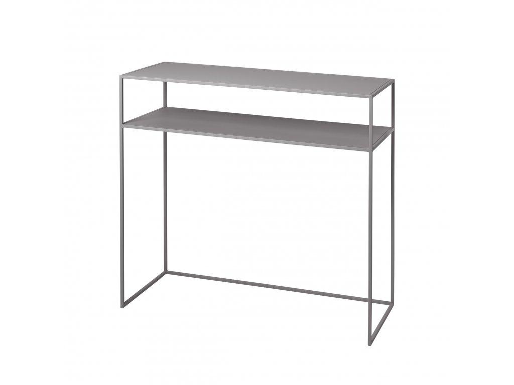 konzolový stolek šedý FERA BLOMUS