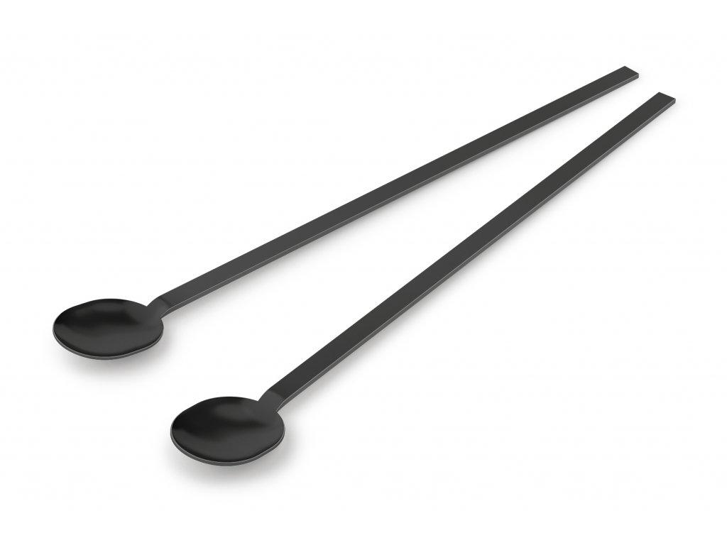 koktejlová lžíce nerezová černá ZACK