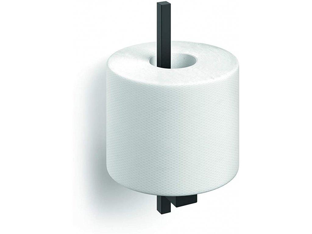 zásobník toaletního papíru černý nerezový ZACK