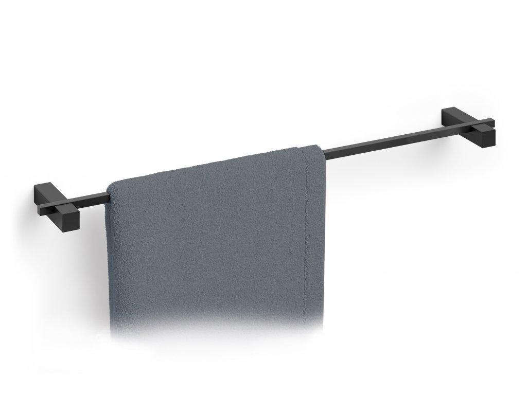 držák na osušky černý nerezový šířka 67 cm ZACK