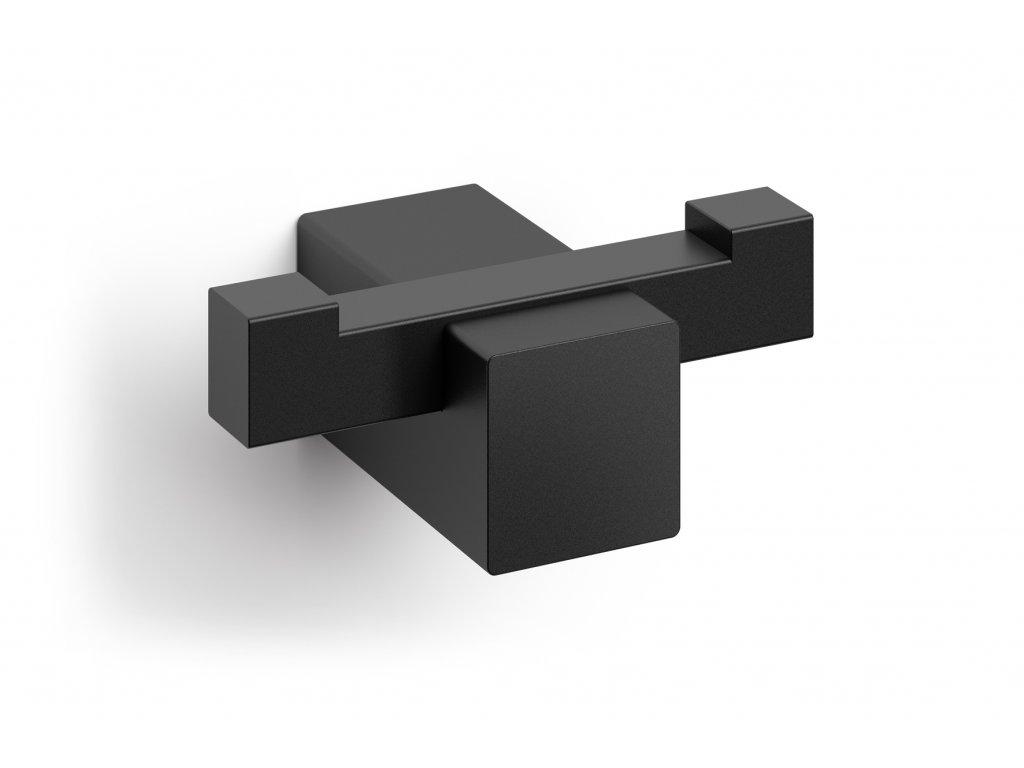 háček na ručník dvojitý nerezový černý ZACK