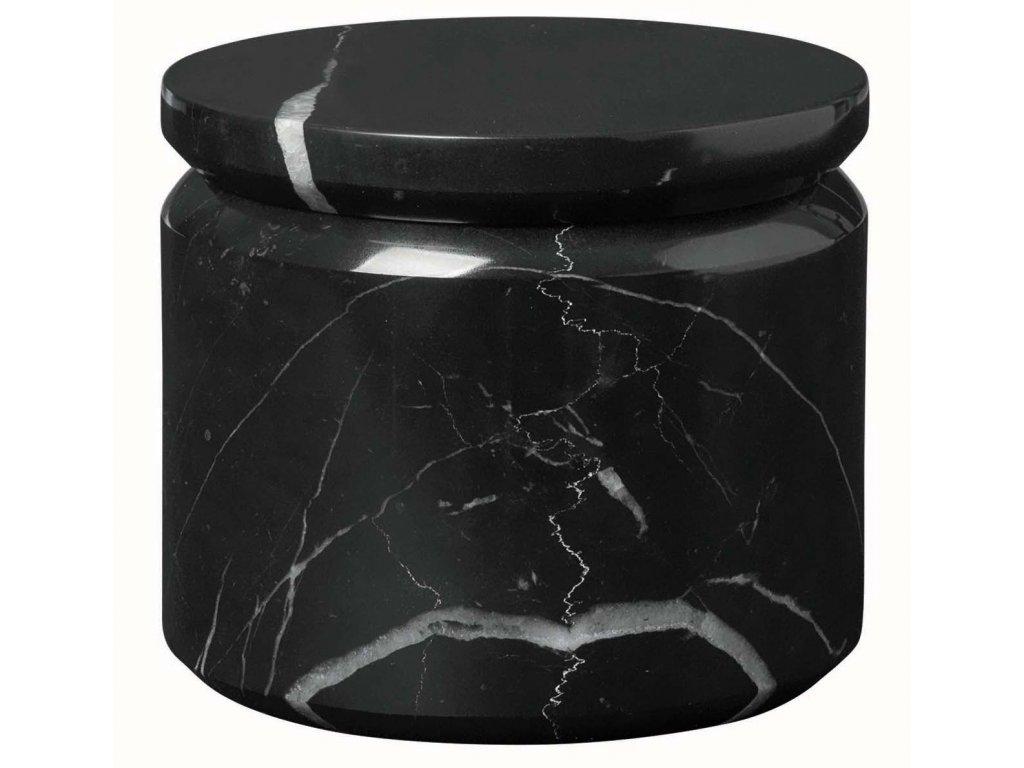 Mramorový úložný box černý BLOMUS