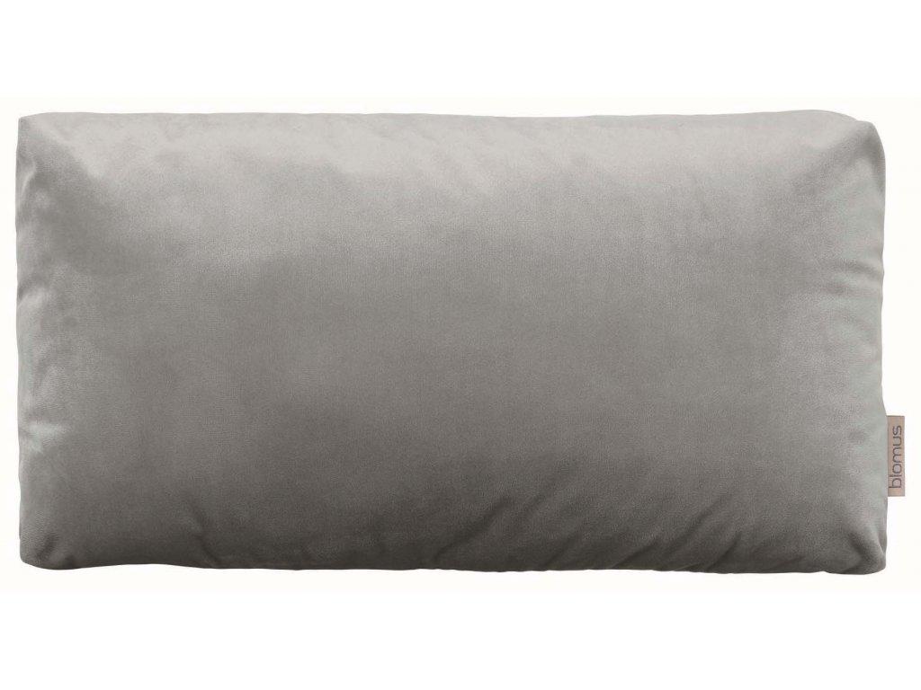 Sametový polštář 50 x 30 cm šedohnědý BLOMUS