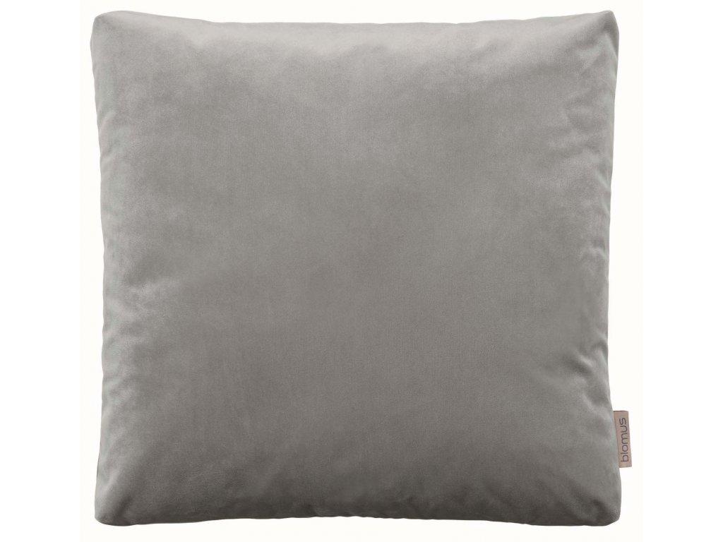 Sametový polštář 45 x 45 cm šedohnědý BLOMUS