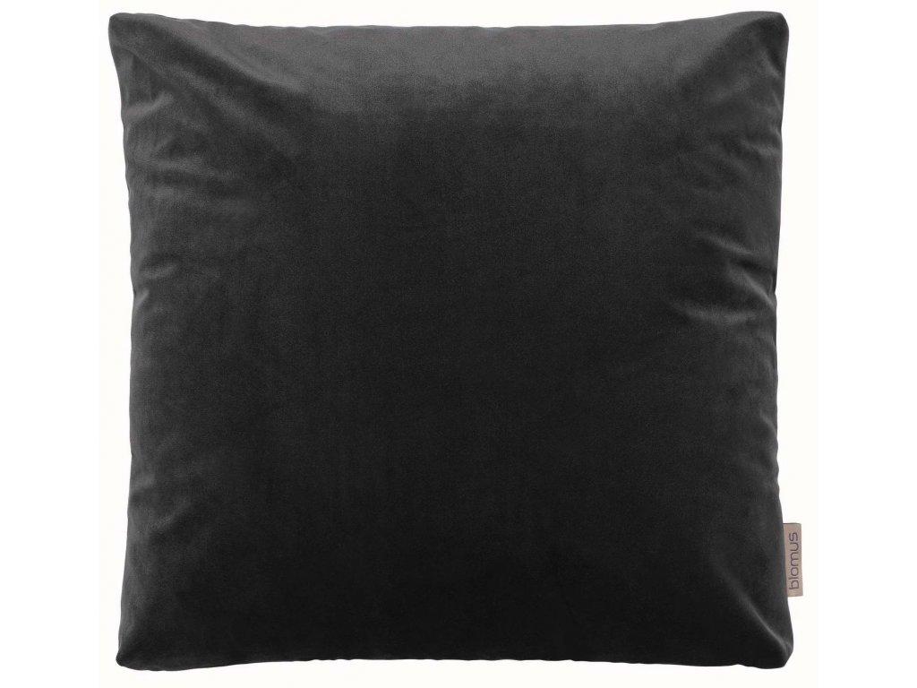 Sametový polštář 45 x 45 cm tmavě šedý BLOMUS