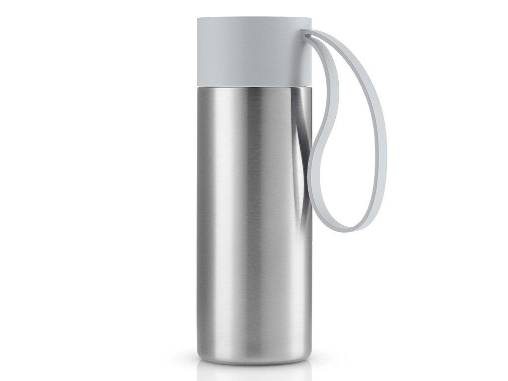 Nerezový termohrnek To Go 0,35 l s mramorově šedým uzávěrem, Eva Solo