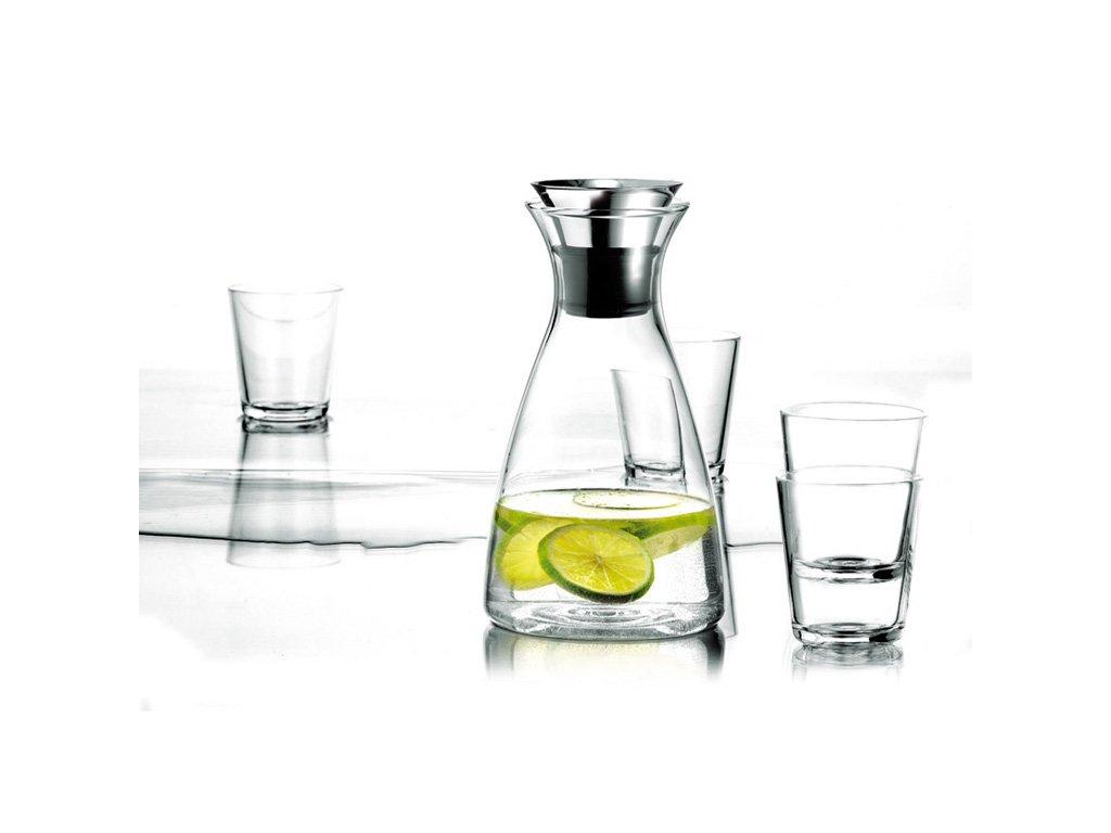 Set Karafa s drip-free okrajem + 4 sklenice, Eva Solo