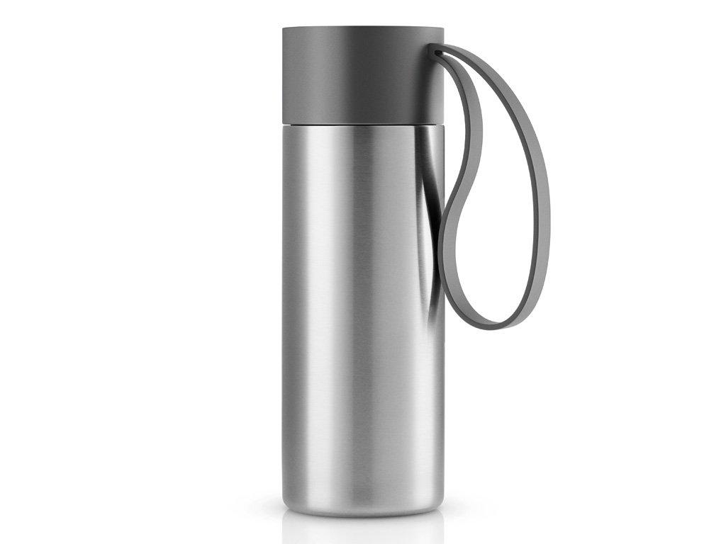 Nerezový termohrnek To Go 0,35 l s šedým řemínkem, Eva Solo