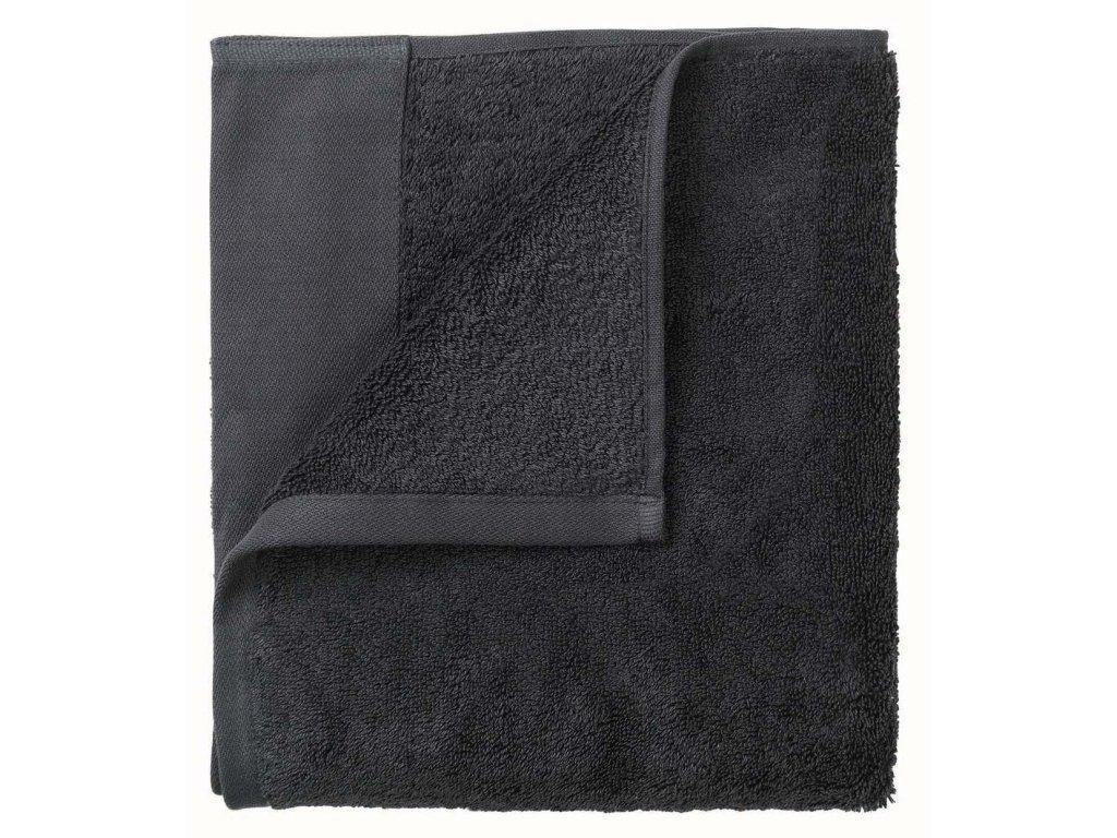 Set 2 ručníků 30 x 50 cm tmavě šedá BLOMUS