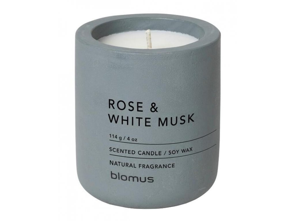 Vonná svíčka ze sójového vosku FRAGA růže a bílý mošus Ø 6,5 cm BLOMUS