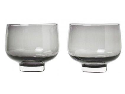 Set 2 ks sklenice, flow, 220 ml, kouřové BLOMUS