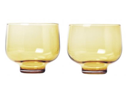Set 2 ks sklenice, flow, 220 ml, zlaté BLOMUS
