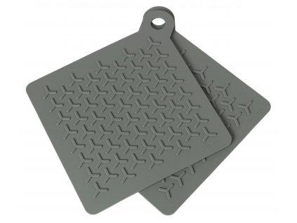 Silikonové podložky pod hrnec set 2 ks, khaki BLOMUS