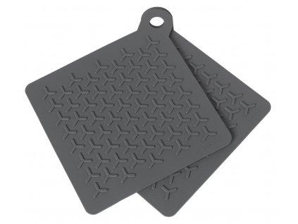 Silikonové podložky pod hrnec set 2 ks, šedé BLOMUS
