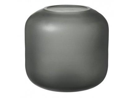 Váza malá, skleněná, šedá BLOMUS