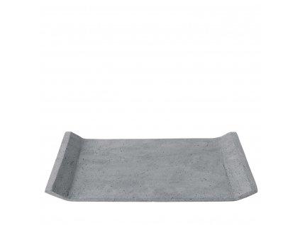 Dekorační odkládací tác, betonový, velký, tmavě šedý BLOMUS