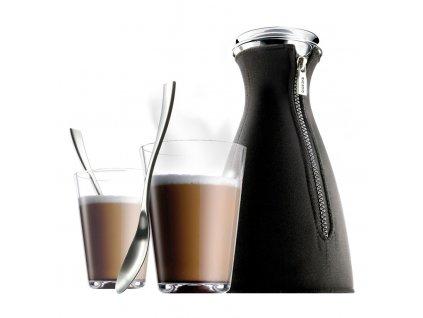 Latte set Kávovar CafeSolo + 2 sklenice + 2 lžičky caffelatte, Eva Solo