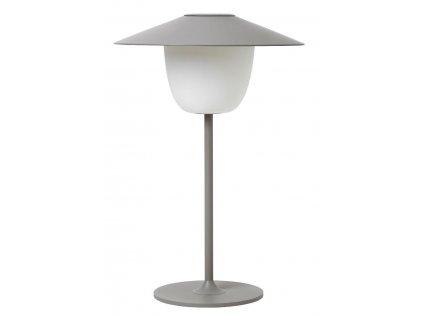 Přenosná LED lampička, šedá, hliníková BLOMUS