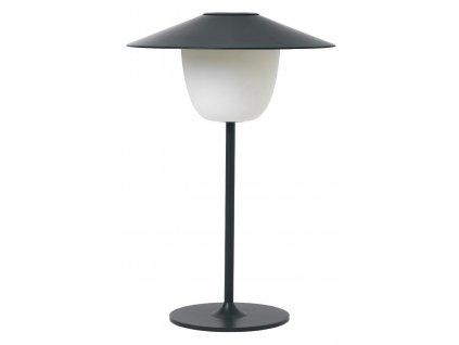 Přenosná LED lampička, černá, hliníková BLOMUS