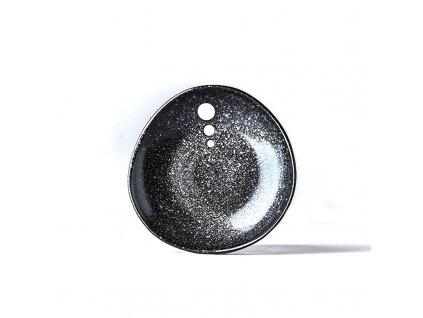 Made in Japan Malý nepravidelný mělký talíř White Dot 12 cm