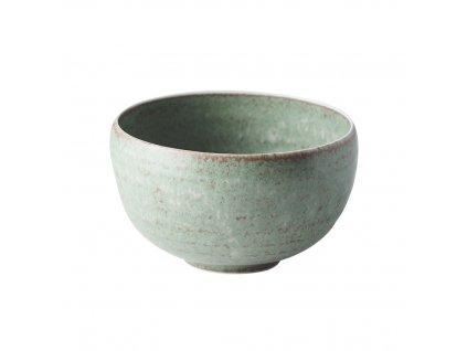 Made in Japan Miska ve tvaru U Fade zelená 13 cm 650 ml
