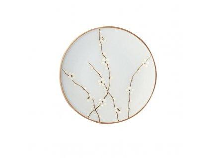 Made in Japan Velký mělký talíř LT Blue Blossom 25 cm