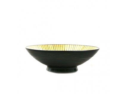 Made in Japan Ramen mísa Dk Green 25 cm 1,1 l