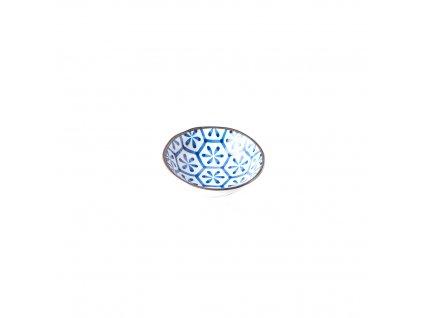 Made in Japan Malá miska Hexagon Indigo Ikat 11 cm 150 ml