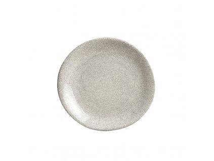 Made in Japan Velký mělký talíř 25 cm bílo-šedý