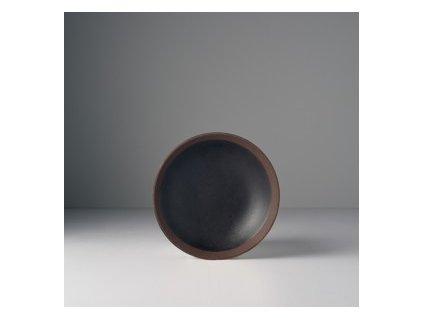 Made in Japan Hluboký talíř 15 cm černý