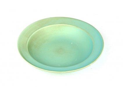Made in Japan Hluboký talíř s širokým okrajem 21,5 cm modrozelený