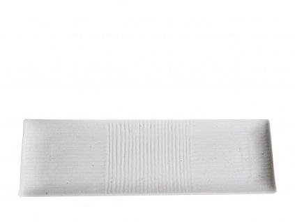 Made in Japan Talíř na sushi Lines 33 x 10 cm bílý