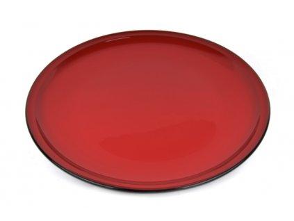 Made in Japan Velký mělký talíř 48 cm červený