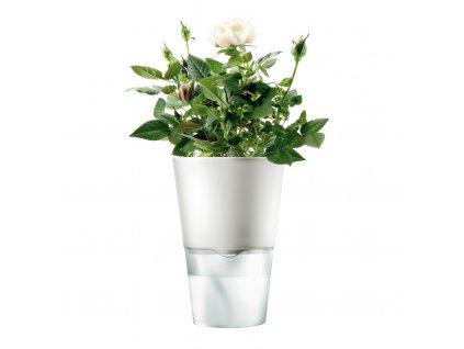Samozavlažovací květináč křídově bílá Ø 11 cm, Eva Solo