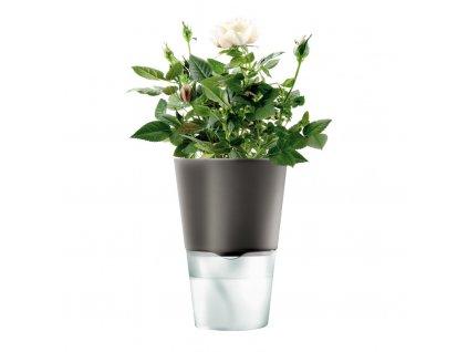 Samozavlažovací květináč tmavě šedá Ø 11 cm, Eva Solo