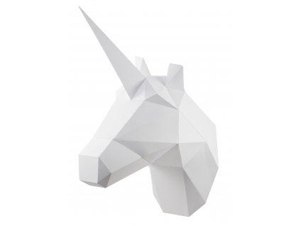 Papírový Bílý jednorožec skládací PAPERTIME