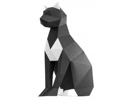 Papírová Kočka černá skládací PAPERTIME