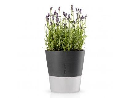 Samozavlažovací květináč šedá Ø 20,5 cm, Eva Solo