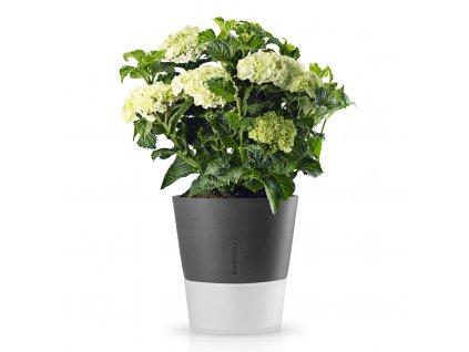 Samozavlažovací květináč šedá Ø 25 cm, Eva Solo