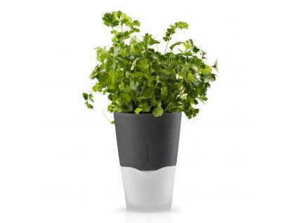 Samozavlažovací květináč šedá Ø 11 cm, Eva Solo