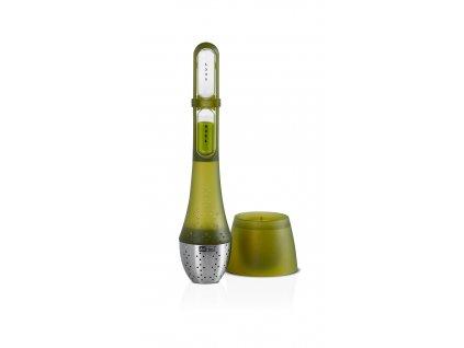 AdHoc Sítko na čaj TEATIME s přesýpacími hodinami zelené
