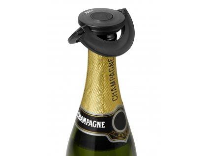 Adhoc Zátka na šampaňské GUSTO černá